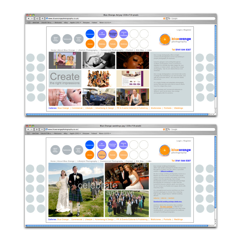 Blue-orange-photography-website-design-2